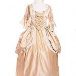 18th Century cream silk gown with matching male ref 1863