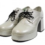 Silver mens 70's shoes. various sizes