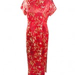 chinese red silk dress various sizes and colours available ref 0738