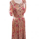 40's  beautiful silk gold gown size 12 ref 1382