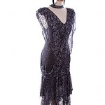 1920's Black and silver evening dress, vast collection to choose from ref 0291