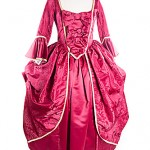 red silk gown/princess
